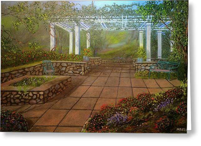 Gazebo  Greeting Card by Michael Mrozik