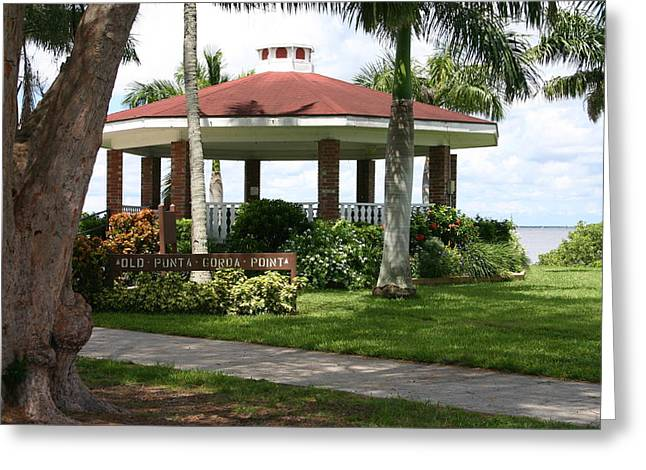 Gazebo Punta Gorda Fl Greeting Card by Francesco Roncone