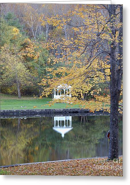 Gazebo Reflection Greeting Card by Faith Harron Boudreau