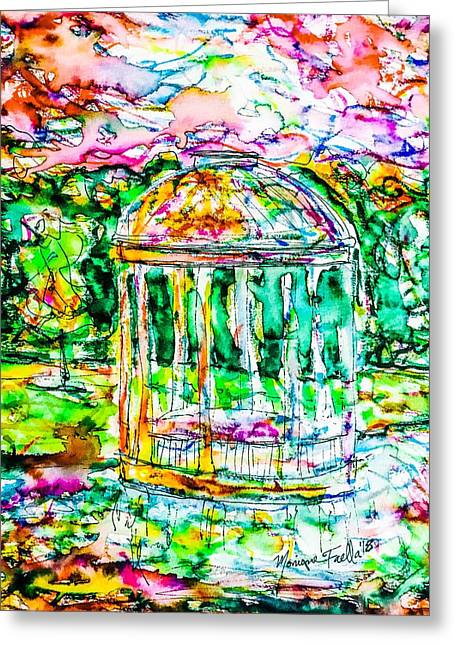 Gazebo Sunset Greeting Card