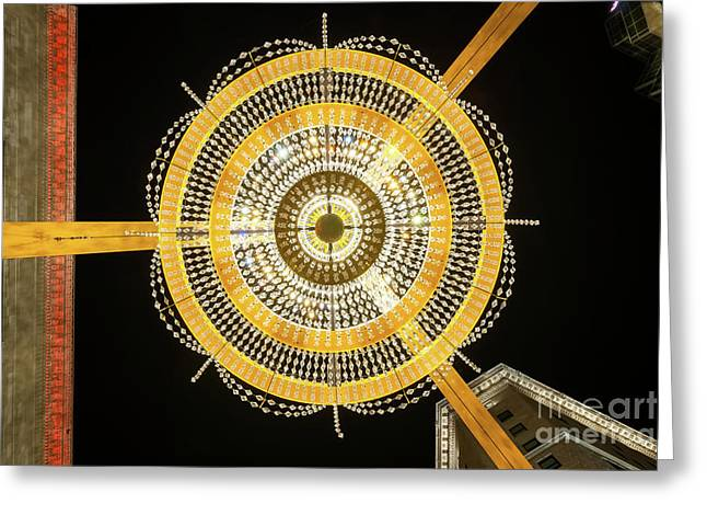 Ge Playhouse Chandelier Greeting Card by Frank Cramer