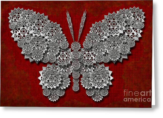 Gear Butterfly Greeting Card