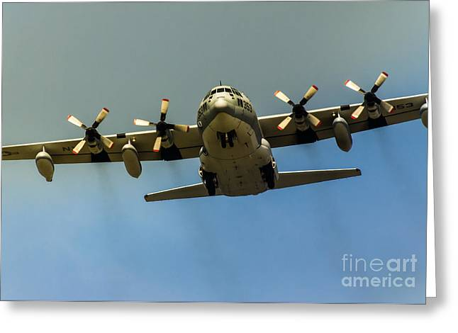 Gear Down C-130 Hercules  Greeting Card by Robert Frederick