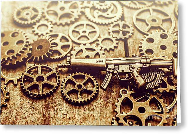 Gear Of Weapon Design Greeting Card by Jorgo Photography - Wall Art Gallery