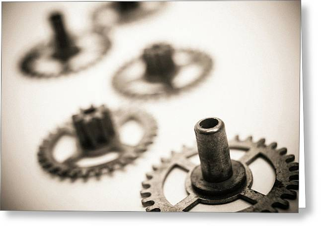 Gear Wheels. Greeting Card
