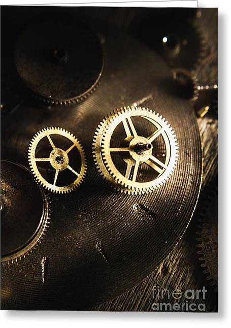 Gears Of Automation Greeting Card by Jorgo Photography - Wall Art Gallery