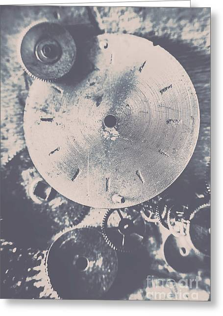 Gears Of Old Industry Greeting Card