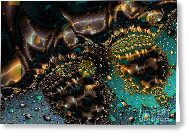 Gears Of The Universe Two Greeting Card by Ron Bissett