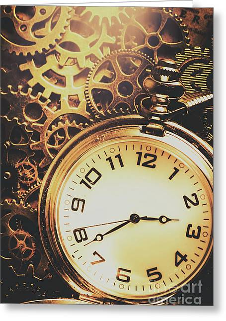 Gears Of Time Travel Greeting Card