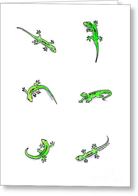 Gecko Play Greeting Card