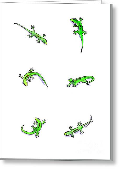 Gecko Play Greeting Card