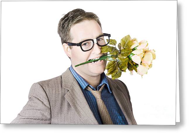 Geek In Love Greeting Card by Jorgo Photography - Wall Art Gallery
