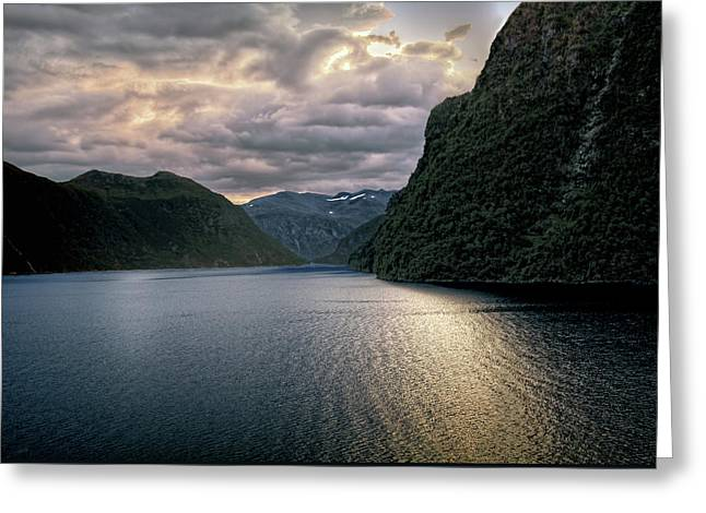 Geiranger Fjord Greeting Card by Jim Hill