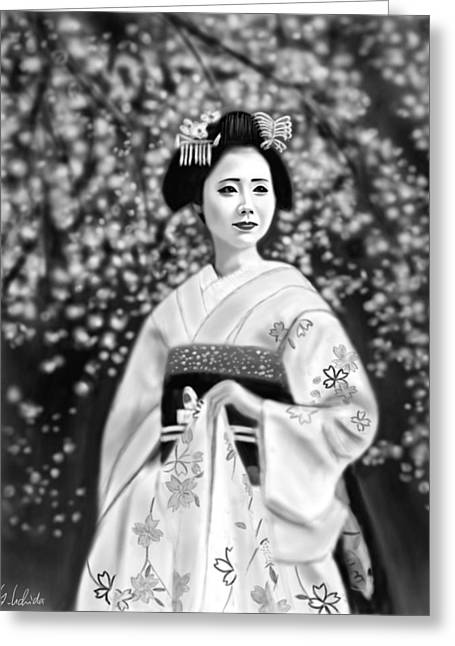Geisha No.146 Greeting Card