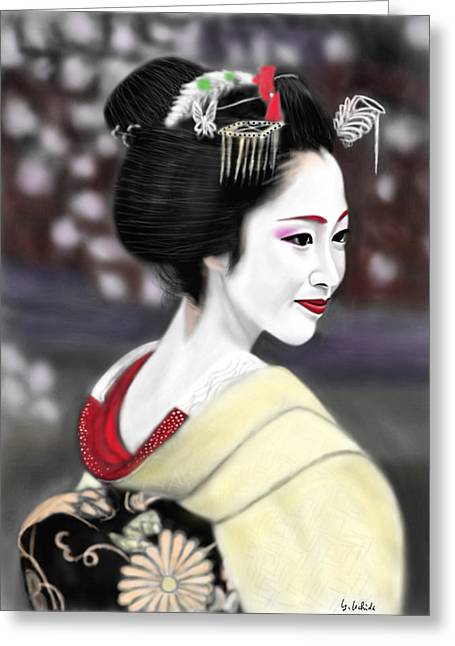 Geisha No.206 Greeting Card