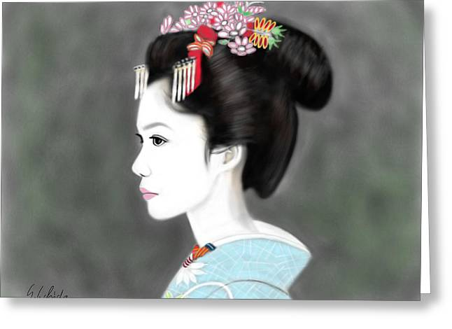 Geisha No.212 Greeting Card