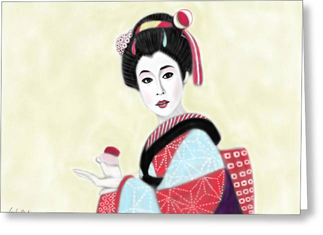 Geisha No.219 Greeting Card