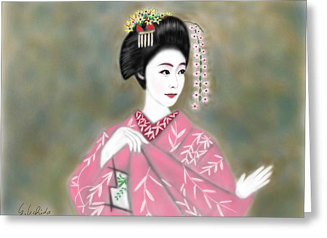Geisha No.221 Greeting Card