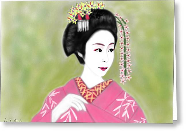Geisha No.222 Greeting Card