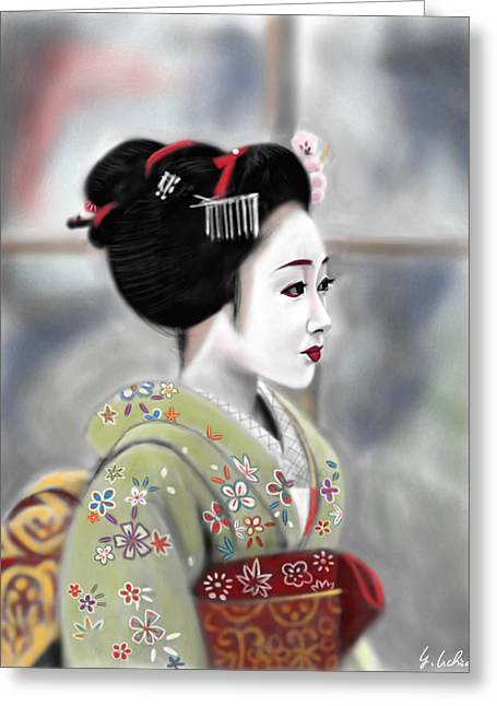 Geisha No.91 Revised Greeting Card