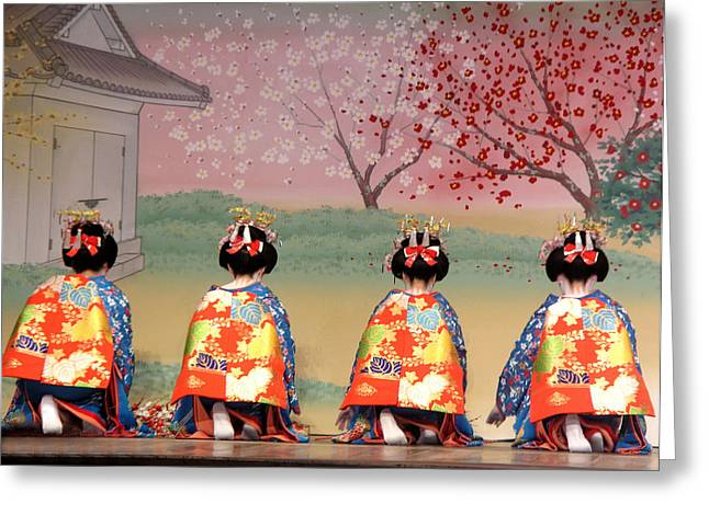 Geisha Row Greeting Card