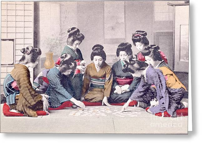 Geishas Greeting Card