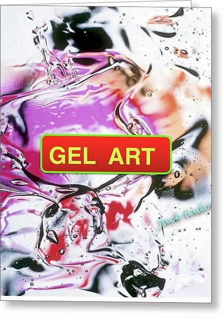 Gel Art #1 Greeting Card by Jack Eadon