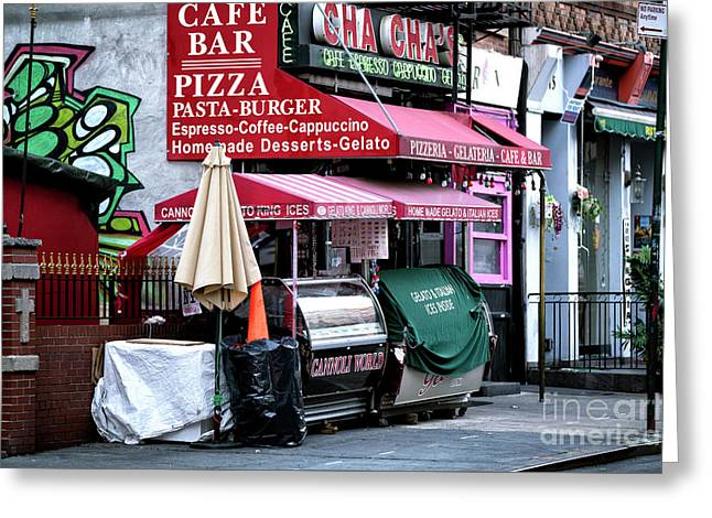 Greeting Card featuring the photograph Gelato King Morning by John Rizzuto