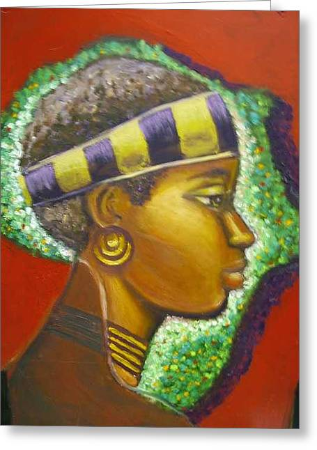 Gem Of Africa Greeting Card by Jan Gilmore
