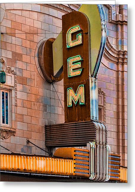 Gem Theater In Kansas City Greeting Card