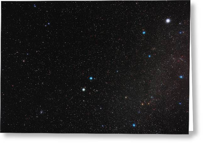 Gemini Constellation Greeting Card by Eckhard Slawik
