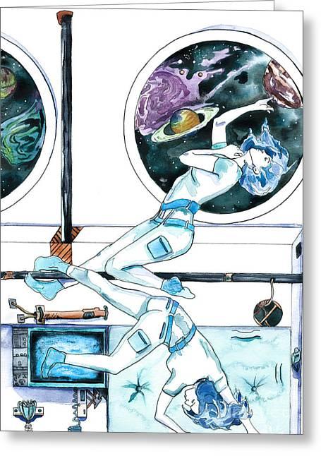 Gemini Journey Pollux Pleads Greeting Card by D Renee Wilson