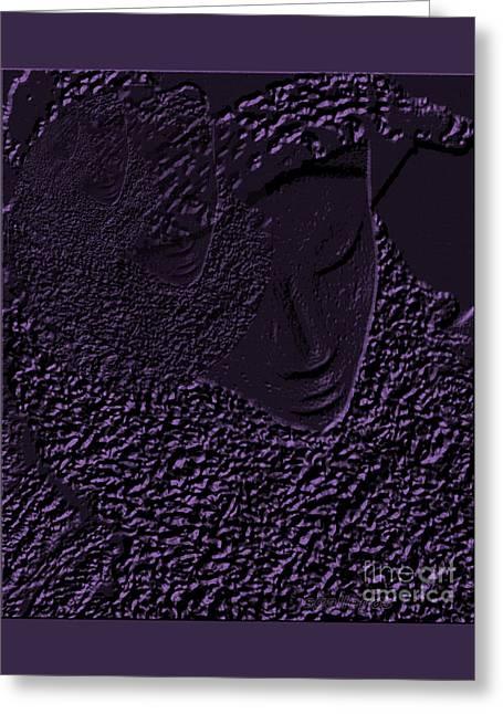 Gemini Mind Greeting Card by Sandra Gallegos