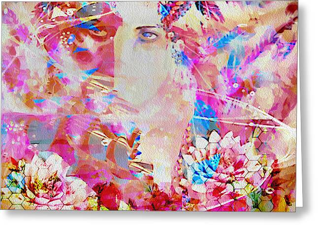 Greeting Card featuring the photograph Gemini Woman by Eleni Mac Synodinos