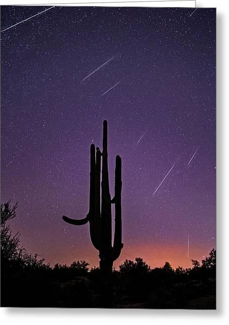 Geminid Meteor Shower #1, 2017 Greeting Card