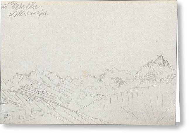 Gemmi Pass, Valais Alps Greeting Card by Paul Klee