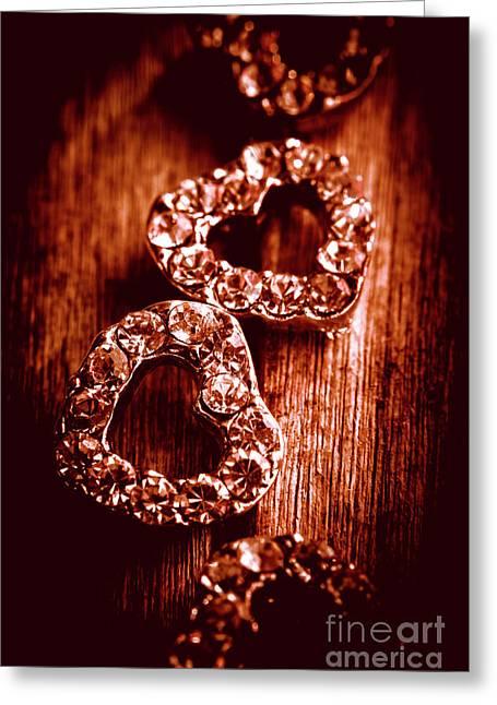 Gems Of Fashionable Romance Greeting Card