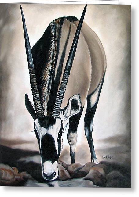 Gemsbok - Thirst Greeting Card