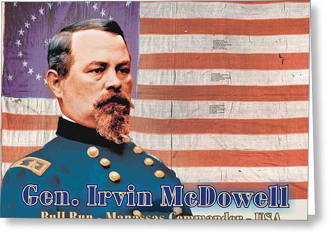 Gen. Irvin Mcdowell Greeting Card