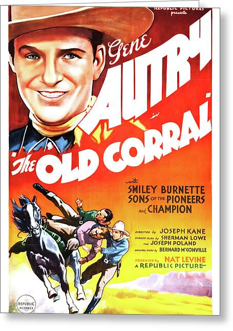 Gene Autry In The Old Corral 1936 Greeting Card by Mountain Dreams