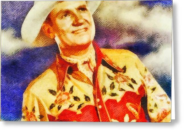 Gene Autry, Vintage Hollywood Legend Greeting Card by John Springfield