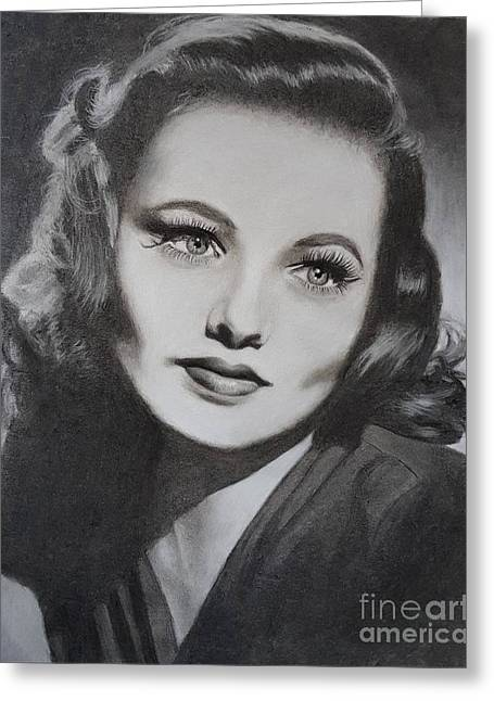 Gene Tierney  Greeting Card