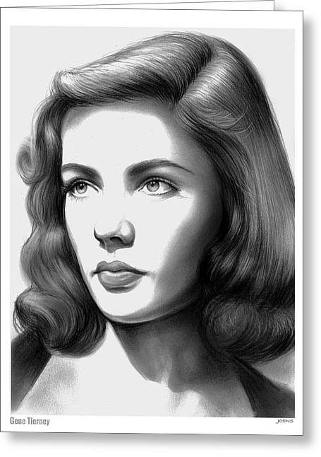 Gene Tierney Greeting Card by Greg Joens