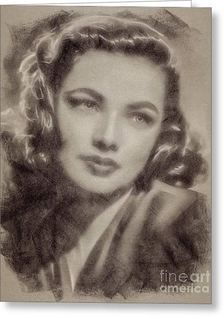 Gene Tierney Hollywood Actress Greeting Card