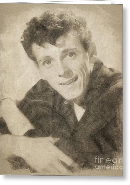 Gene Vincent, Music Legend By John Springfield Greeting Card by John Springfield
