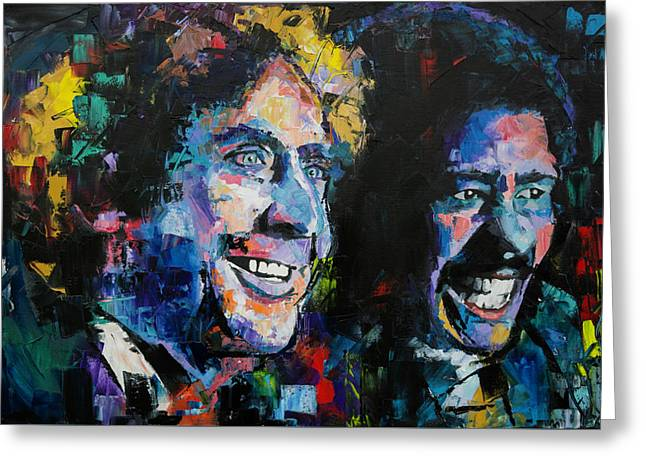 Gene Wilder And Richard Pryor Greeting Card by Richard Day
