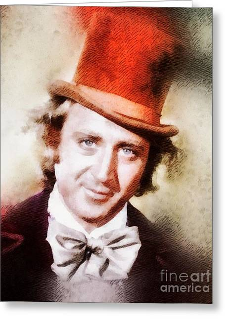 Gene Wilder, Vintage Actor By John Springfield Greeting Card
