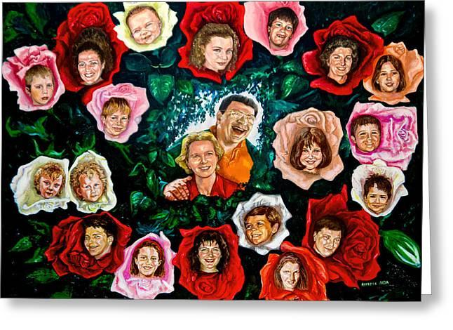 Genealogical Rosebush Greeting Card by Aymeric NOA