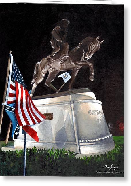 General Beauregard Monument Greeting Card by Elaine Hodges