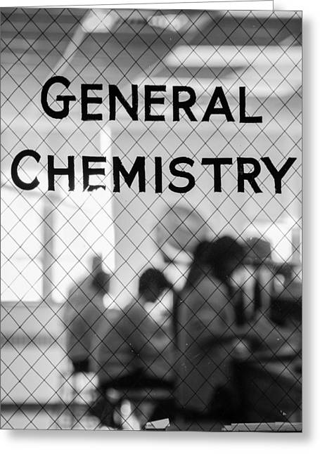 General Chemistry Greeting Card by Phillip Schafer